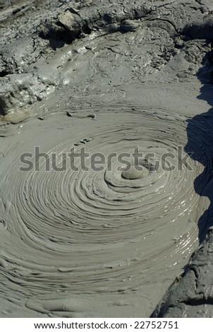 Mud volcano in Gobustan ,Azerbaijan