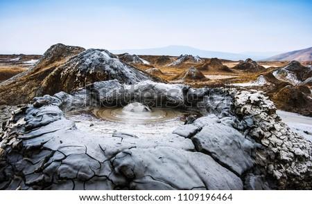 Mud volcanoes of Gobustan near Baku, Azerbaijan