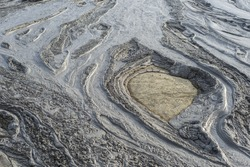 Mud volcanoes's clay in Buzau County, Romania