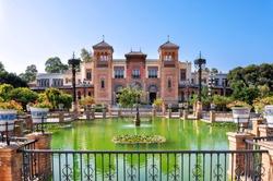 Mudejar pavilion in Seville, Spain