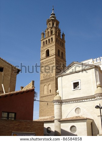 Mudejar Tower in Aragon, Spain