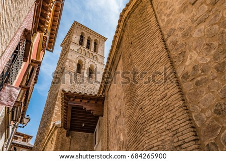 Shutterstock Mudejar tower of the Iglesia de Santo Tome in the Historic City of Toledo. The Historic City of Toledo is a UNESCO World Heritage Site.