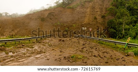 mudslide in Costa Rica