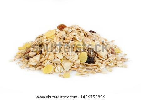 muesli isolated on white background Foto stock ©