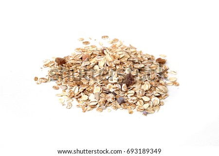 Muesli isolated on white background #693189349