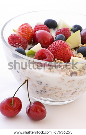muesli with fruits