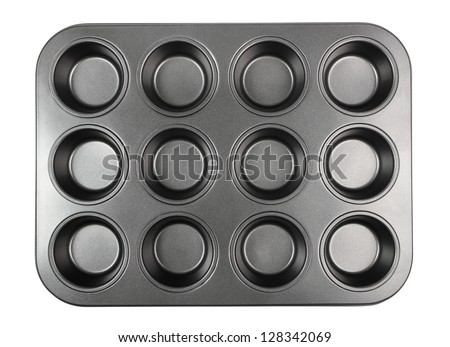 Muffin Tray. Isolated with clipping path.
