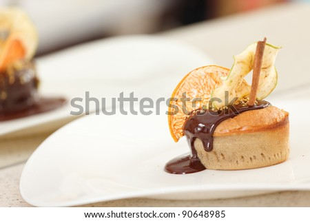 muffin with chocolate and spice