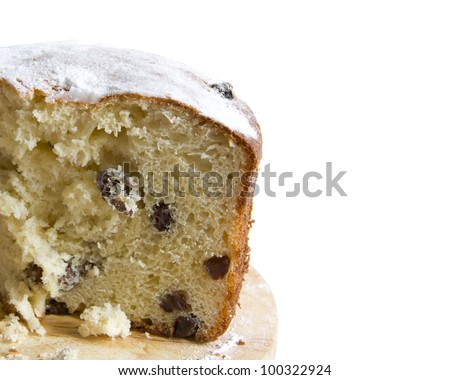 muffin with raisins a close-up