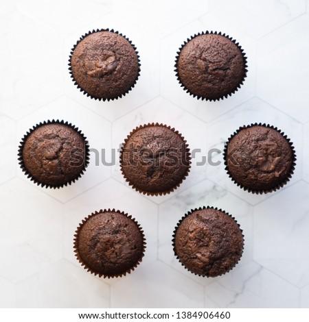 muffins geometrics on marble background #1384906460