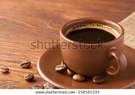 Mug Coffee with beans