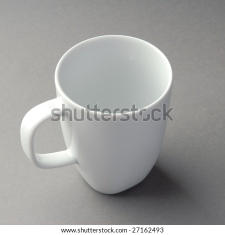 mug isolated on a grey