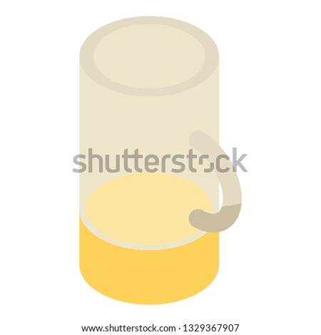 Mug of beer icon. Isometric of mug of beer icon for web design isolated on white background