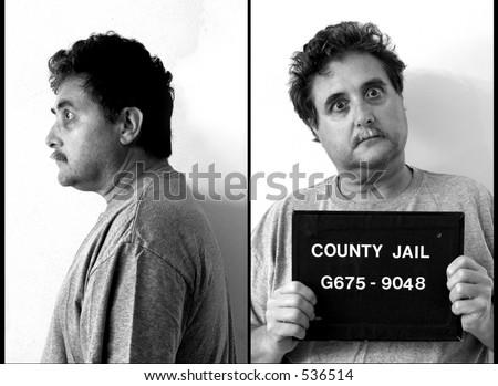 mug shot of middle aged man