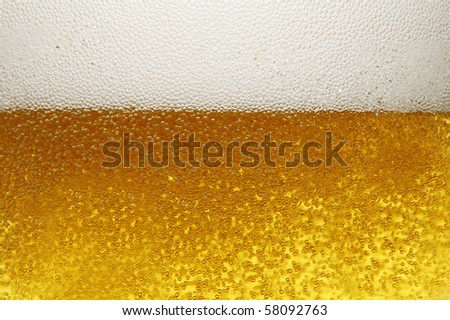 mug with beer close up - stock photo
