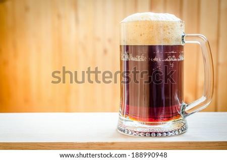 Mug with dark beer