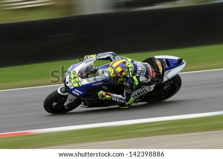 MUGELLO - ITALY, MAY 31: Italian Yamaha rider Valentino Rossi at 2013 TIM MotoGP of Italy at Mugello circuit on May 31, 2013