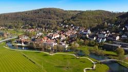 Muggendorf in upper franconia in bavaria