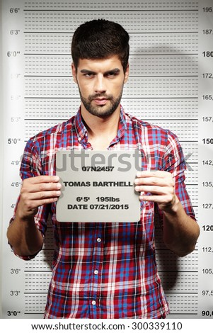 Mugshot of jailed criminal