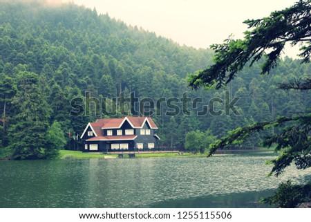 muhteşem göl ve manzara Stok fotoğraf ©