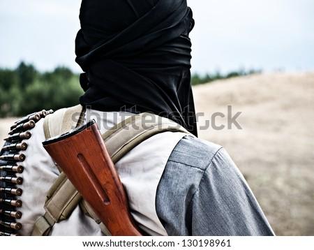 mujahid - stock photo