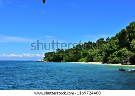 Mukut village beach, Tioman Island, Malaysia Stock photo ©