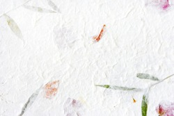 Mulberry paper with flower texture background.