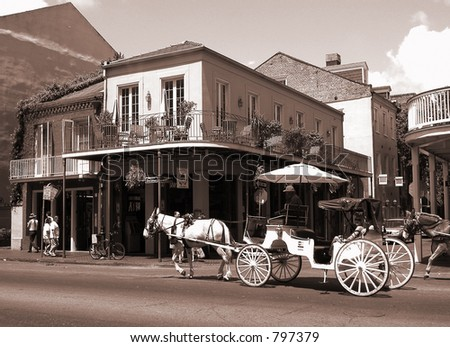 mule and carriage in french ...