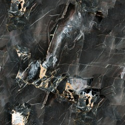 Mulicolored dark natural marble. Seamless square background, tile ready. High resolution photo.