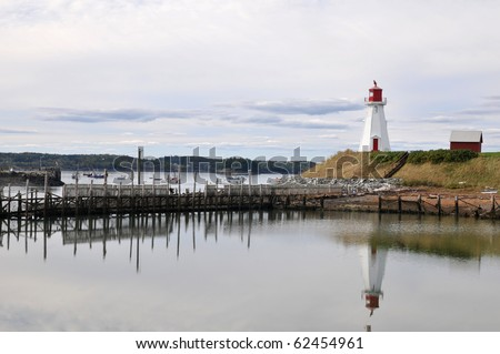 Mullholland Lighthouse on Campobello Island, New Brunswick, Canada, just over the border from the U.S.