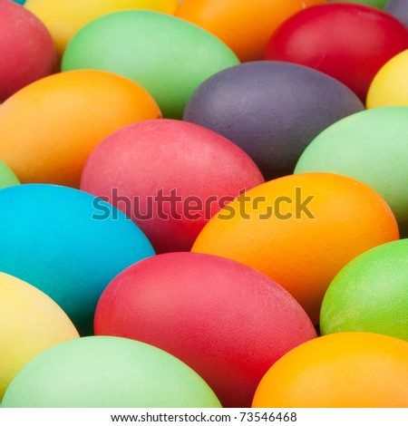 multi color eggs