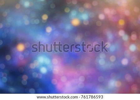 Multi-color glitter vintage lights,bokeh for blur background. #761786593