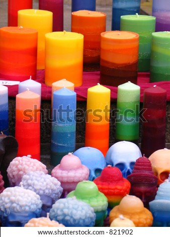 how to make multi colored candles