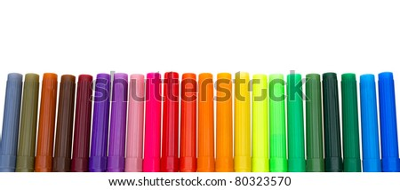 Multi colored felt-tip pens