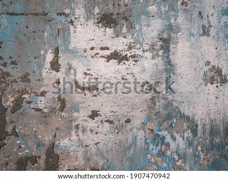 Multi-colored for backdrop. Strokes of multi-layer textured plaster. Colors - Bon Jour Hue Gray, Mondo, Glacier Hue Blue. Photo stock ©