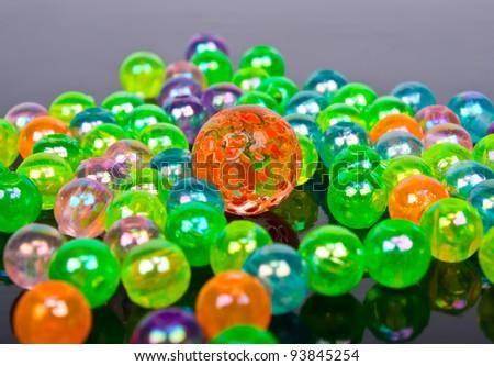 Multi-colored glass balls
