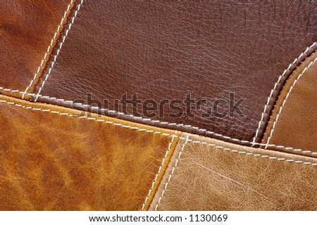 Multi-Colored leather patch material Background