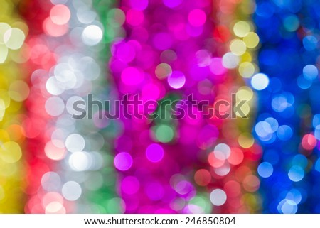 Multi-colored light bokeh, Blurred bokech background with deep light multi color