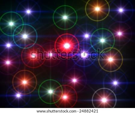 Multi Colored lights lens flare