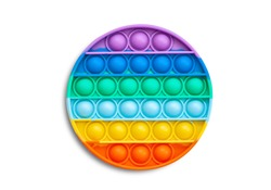 Multi-colored popular silicone anti-stress toy pop it. Colorful anti stress sensory toy fidget push pop it.