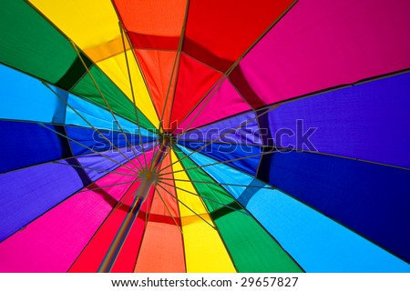 Multi-colored Rainbow Umbrella