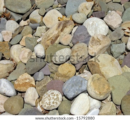 Multi colored rocks and stones used in landscaping stock for Different color rocks for landscaping
