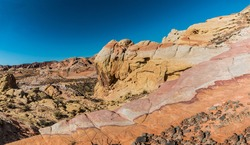 Multi Colored Sandstone Formations The Slick Rock, Valley of Fire State Park, Nevada, USA