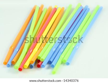 Multi-colored straws