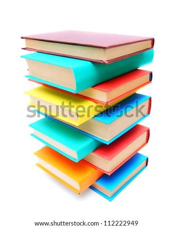 Multi - coloured books. School . - stock photo