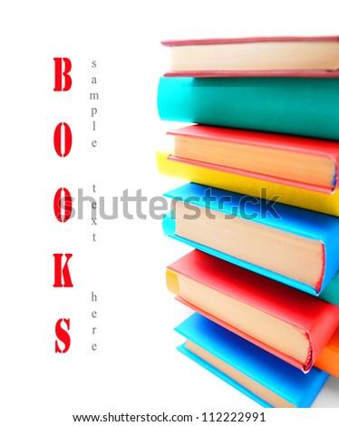 Multi - coloured books . School .