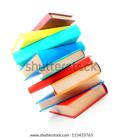 Multi - coloured books. School .