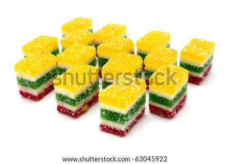 Multi-coloured fruit candy, fruit jelly