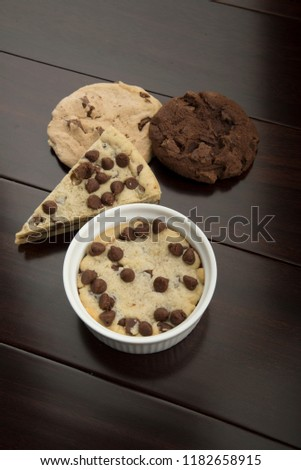 multi cookies like pizza cookies and chocolate cookie and vanilla cookie , with cup cookie  #1182658915