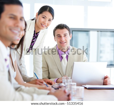 Multi-ethnic business team in a meeting. Business concept.